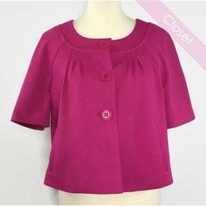 Loft Bright Pink Cap Short Sleeve Blazer NWT 12P